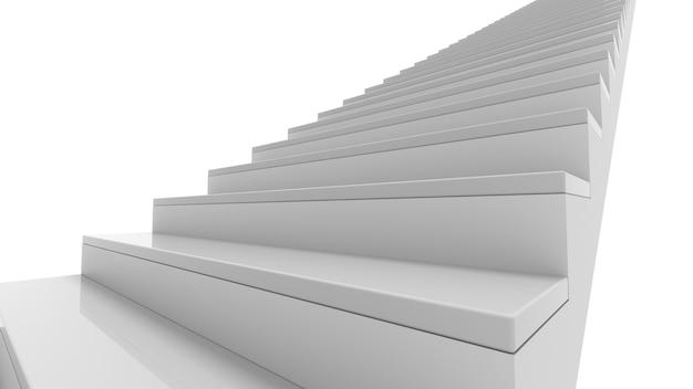 Escada no interior branco