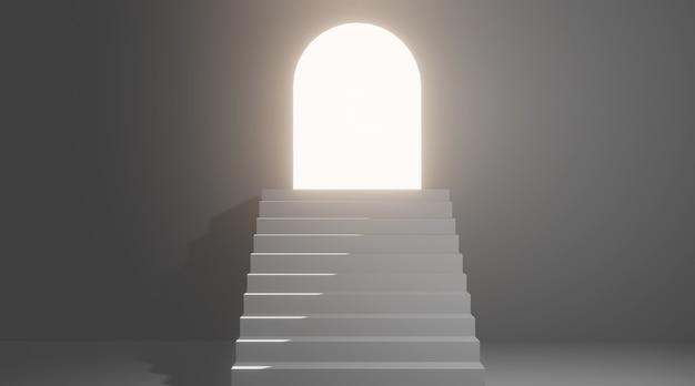 Escada para a porta