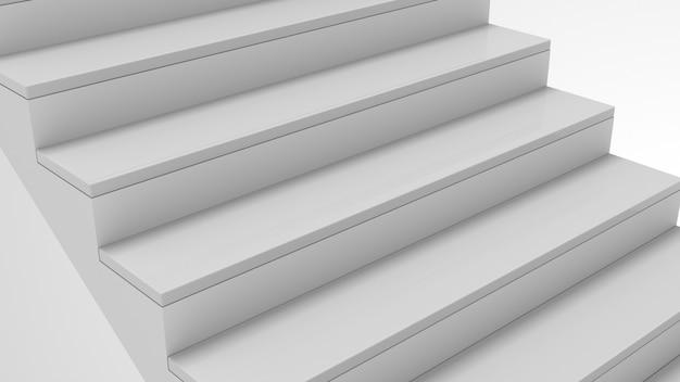 Escadaria em interior branco