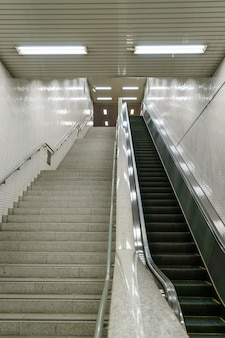 Escadaria na estação de metro