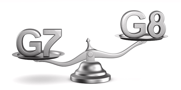 Escala e sinal g7, g8 no espaço em branco