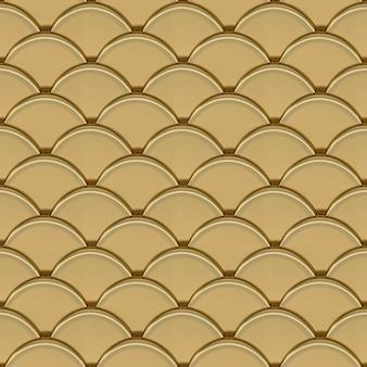 Escalas de ouro padrão geométrico sem costura renderização em 3d
