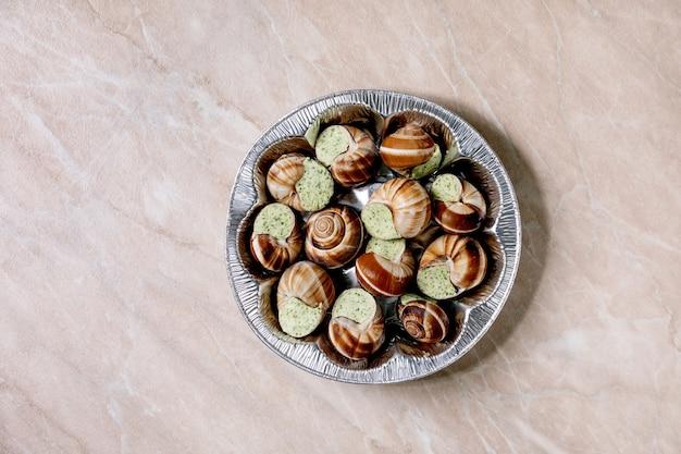 Escargots de bourgogne não cozidos
