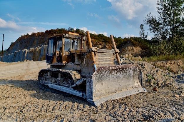 Escavadeira trabalho geologia construção civil