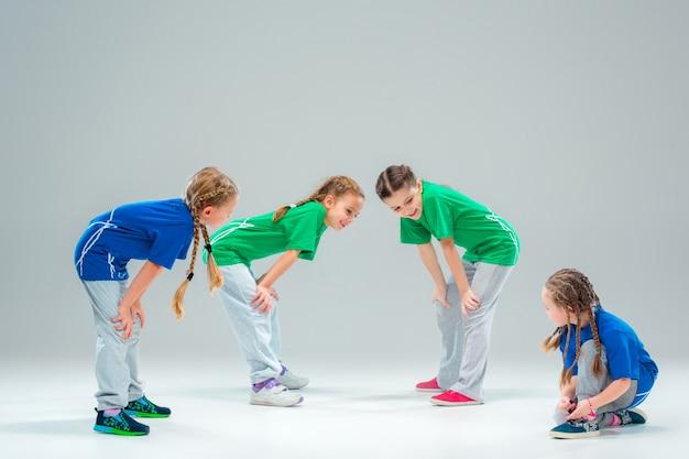 Escola de dança para crianças, balé, hiphop, rua, dançarinos modernos e descolados