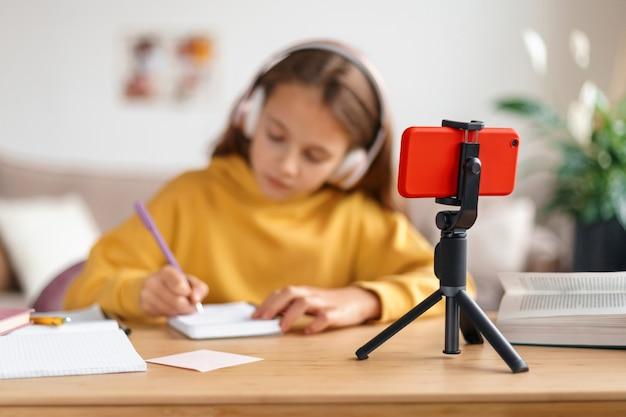Escola remota, conceito de ensino doméstico