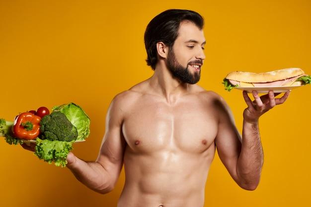 Escolha entre alimentos saudáveis e prejudiciais.