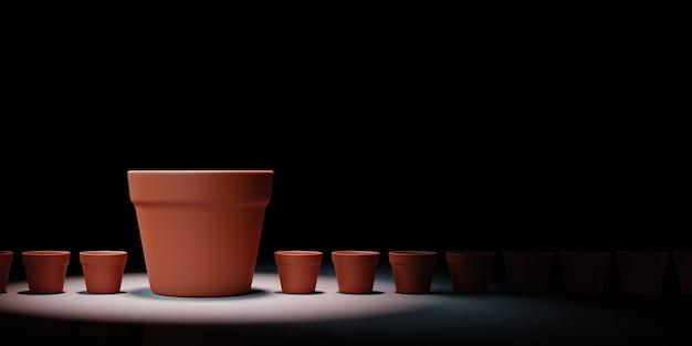 Escolhendo mais espaço para ilustração do conceito de crescimento