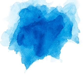 Escova aquarela azul.
