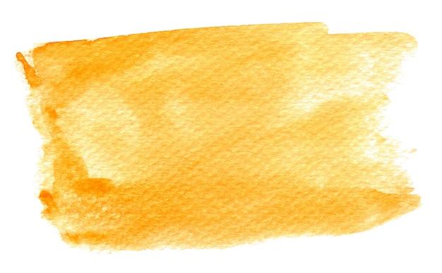 Escova artística de cor de água abstrato amarelo fundo respingo