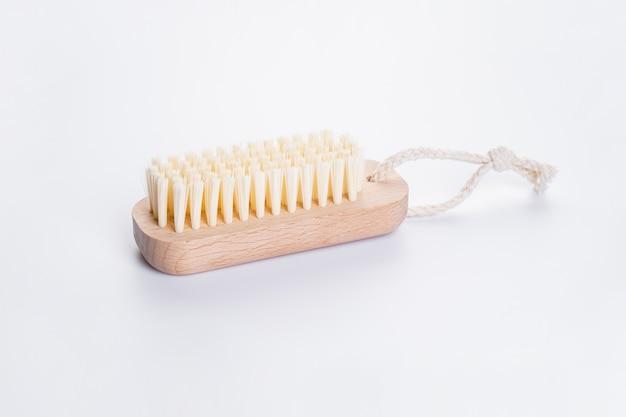 Escova de banho de madeira em branco