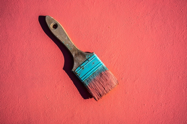 Escova de grunge de cor coral com tinta