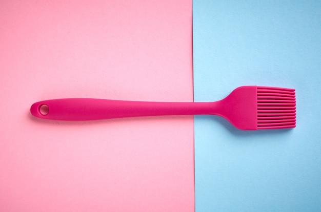 Escova de silicone para preparar comida, lay plana