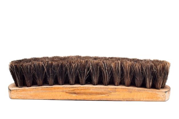 Escova para sapatos isolados no fundo branco