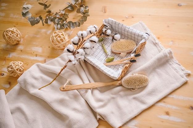Escovas corporais de sisal natural para massagem anticelulite seca, escovas de dente de bambu preto