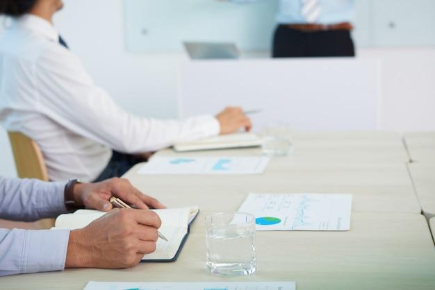 Escrevendo idéias de negócios