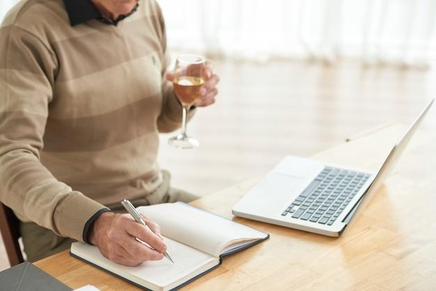 Escrevendo no planejador