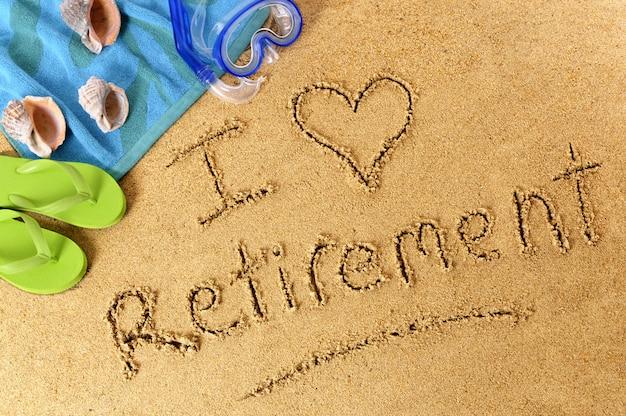 Escrita da praia da aposentadoria