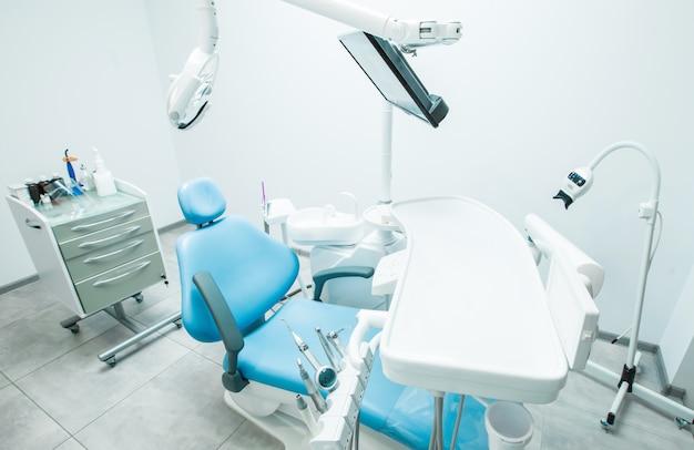 Escritório de cadeira odontológica.