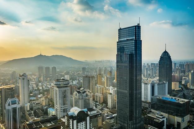 Escritório de negócios céu cityscape turismo