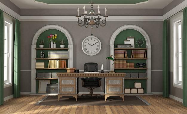 Escritório em casa em estilo clássico