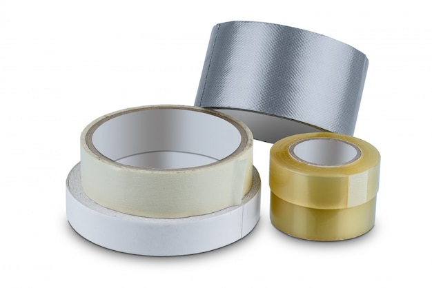 Escritório estacionário rolo de fita adesiva, fita adesiva, adesivo frente e verso