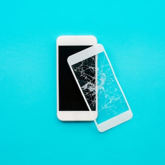 Escudo de vidro temperado ou cobertura de tela de filme com conceitos de protetor de telefone celular