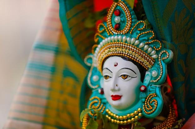Escultura da deusa no casamento indiano