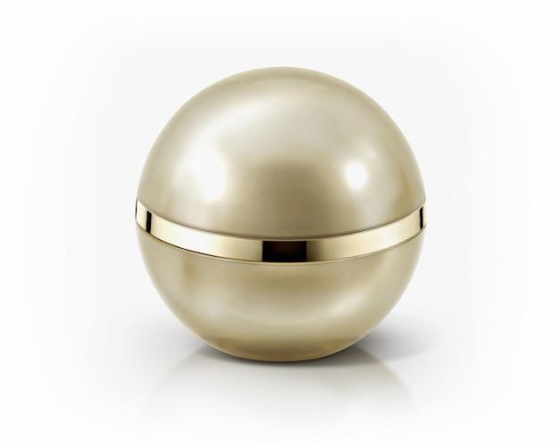Esfera dourada frasco cosmético