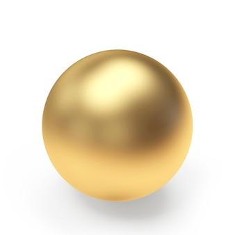 Esfera dourada ou close-up de bola