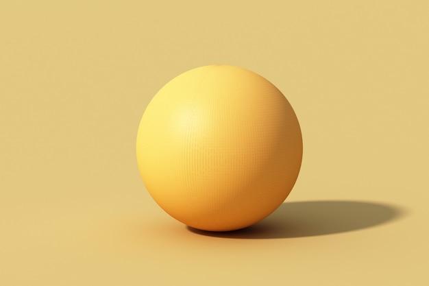 Esfera esfera amarela sobre fundo amarelo.