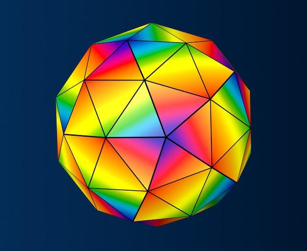 Esfera futurista abstrata em um fundo escuro. renderização 3d