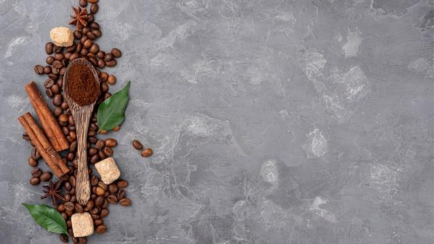 Esfolar leigos de café com espaço de cópia