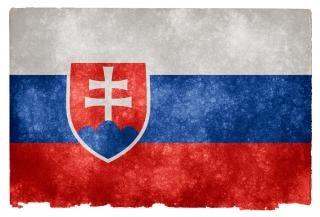 Eslováquia bandeira do grunge orgulho