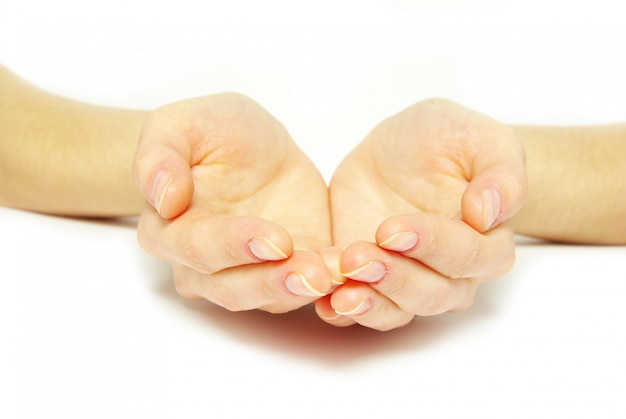 Esmola de mão implorando