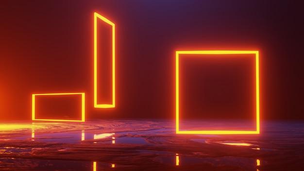 Espaço abstrato, conceito de universo, render 3d