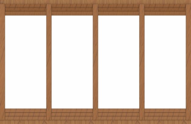 Espaço branco no fundo da parede do painel da madeira de brown.