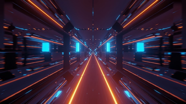 Espaço cósmico com luzes laser coloridas - perfeito para um papel de parede digital
