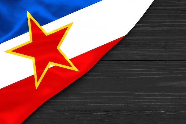 Espaço da cópia da bandeira da iugoslávia