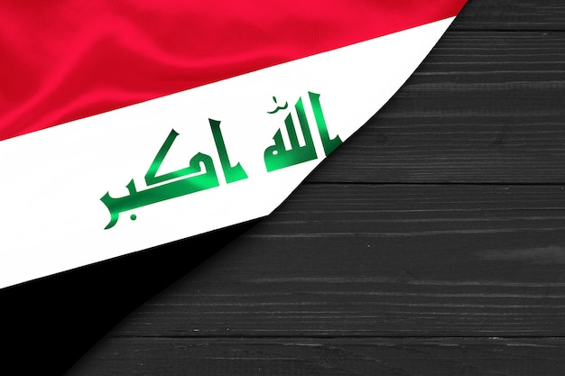 Espaço da cópia da bandeira do iraque