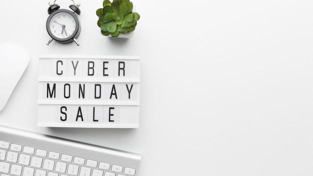 Espaço da cópia de venda da cyber segunda-feira