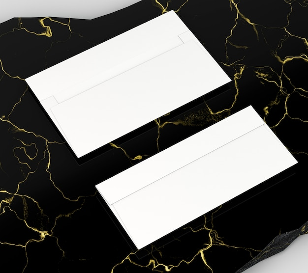 Espaço de cópia de alta vista de papelaria corporativa em branco