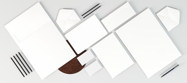 Espaço de cópia de arranjo de papelaria comercial