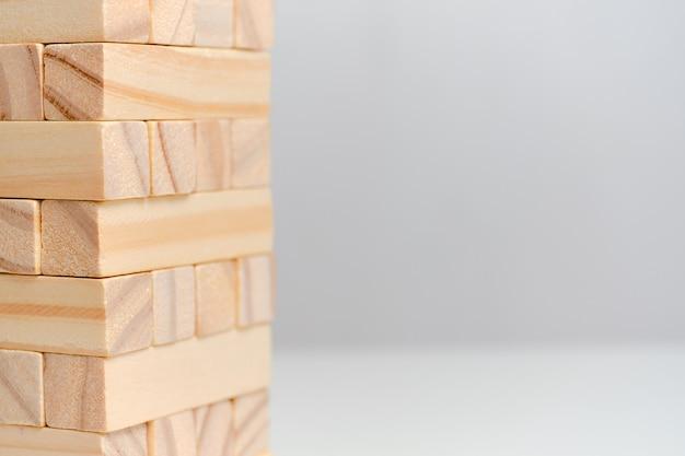 Espaço de cópia de data grande conceito. blocos de madeira em um espaço em branco.