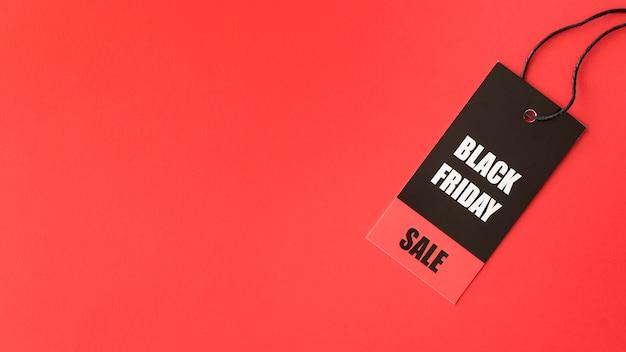 Espaço de cópia de etiqueta de venda black friday