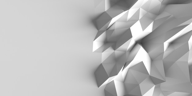 Espaço de cópia de fundo de formas geométricas distorcidas