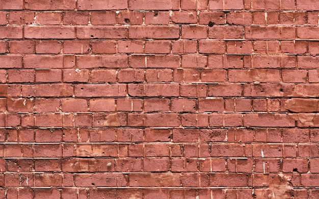 Espaço de cópia de textura de parede de tijolo marrom grunge