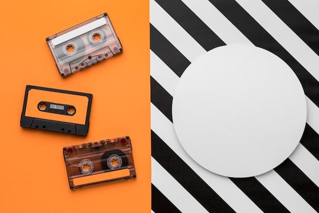 Espaço de cópia vintage cassete mix-tape