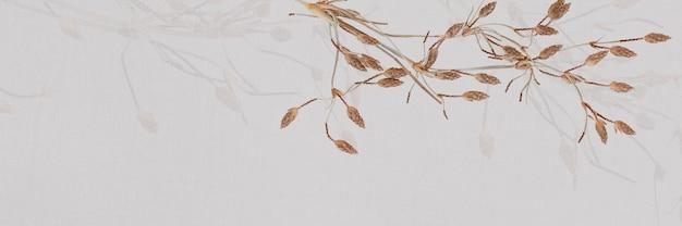 Espaço de design de fundo com padrão de folha bege