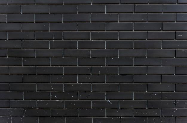 Espaço de design de parede de tijolo preto